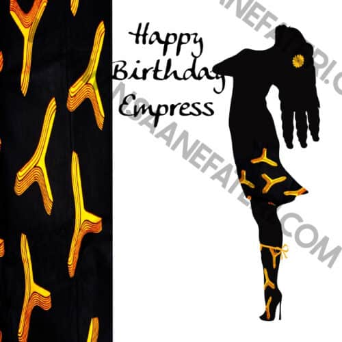 Black woman birthday card by Nsaa Nefateri