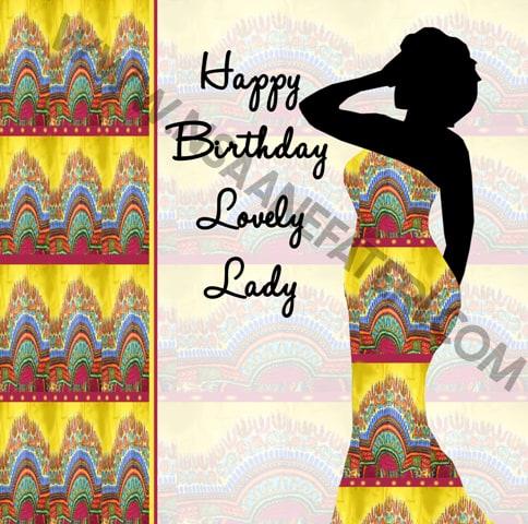 Black woman birthday cards by Nsaa Nefateri