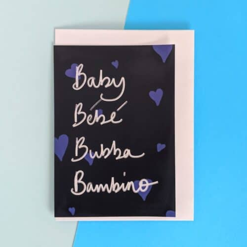 Navy baby card
