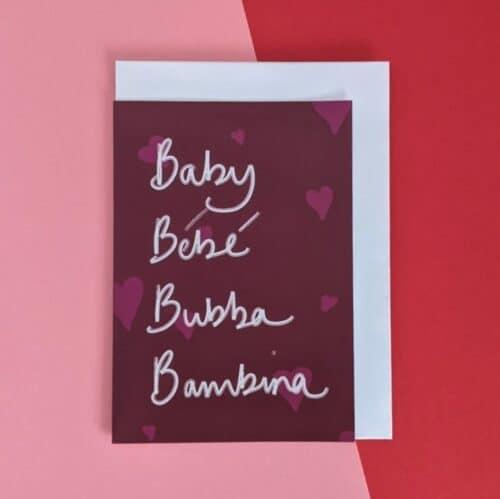 Plum baby card