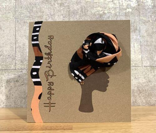 bogolan front knot headwrap card