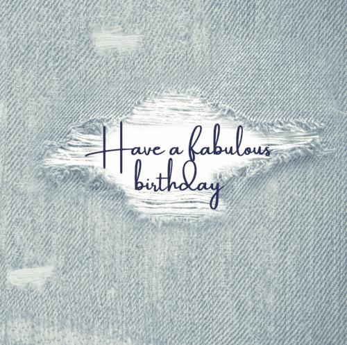 Inside - Denim & Pearls Birthday Card