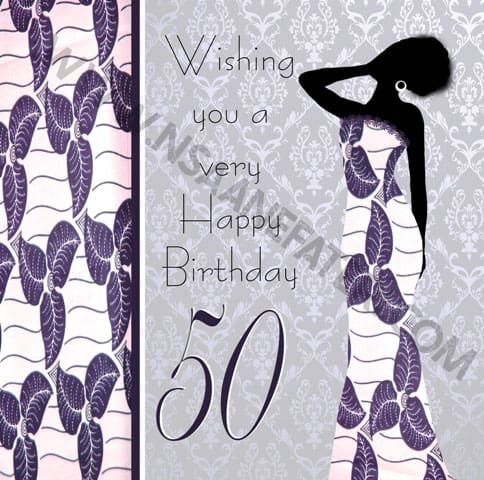 Black Woman 50th Birthday card