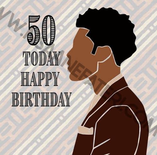 50th Birthday card for black men