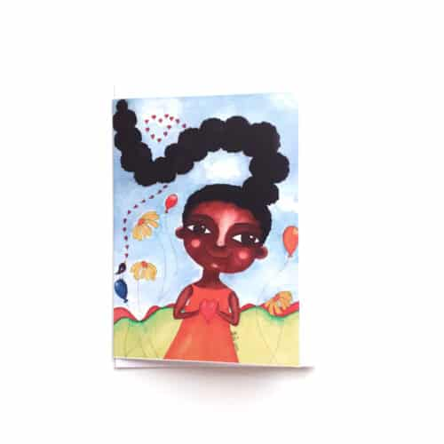 Black Girl's Greeting Card I Love My Hair by Stacey-Ann Cole