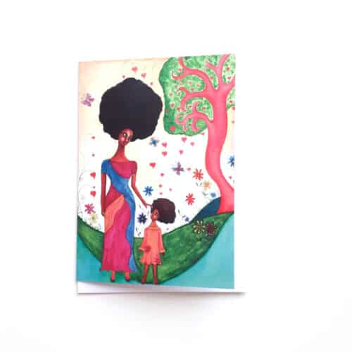 Black Woman's Greeting Card Love Surrounds by Stacey-Ann Cole