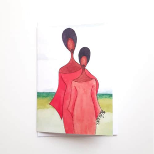 Black Woman's Greeting Card Mother's Pride by Stacey-Ann Cole