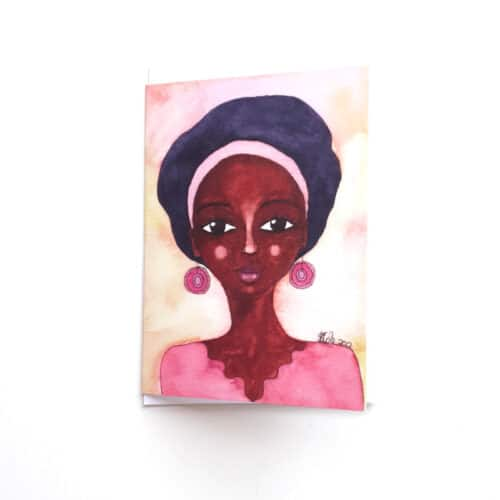 Black Woman's Greeting Card Quiet Joy by Stacey-Ann Cole