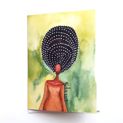 Black Woman's Greeting Card Self Awareness by Stacey-Ann Cole