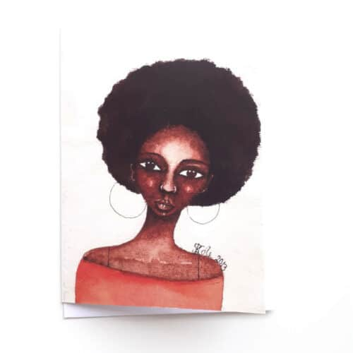 Black Woman's Greeting Card She Knew by Stacey-Ann Cole