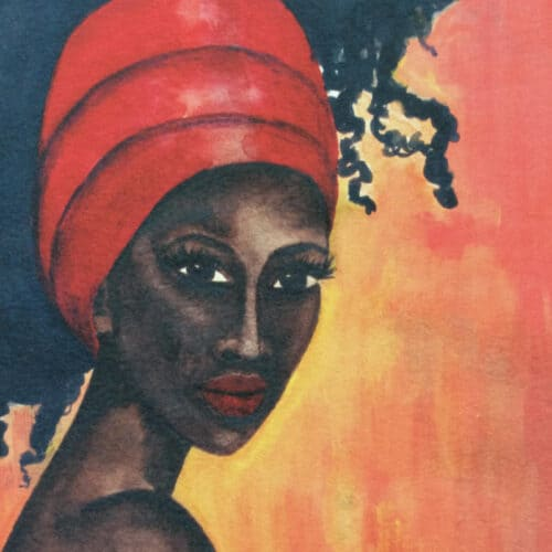 Black Art Print 'Worthy' by Stacey-Ann Cole