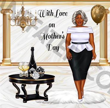 Black Mother's Day Card