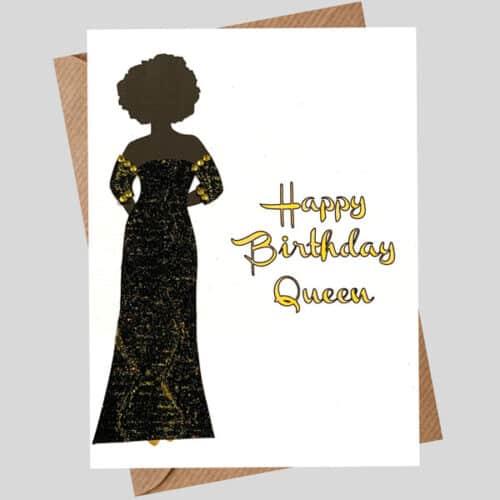 Card for a queen black dress 204
