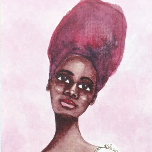 Black Greeting Card for Women 'Ebonie' by Artist Stacey-Ann Cole