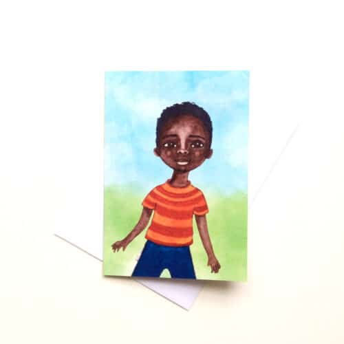 'Our Future' Greeting Card for little black boys