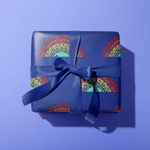 Blue Rainbow Wrap