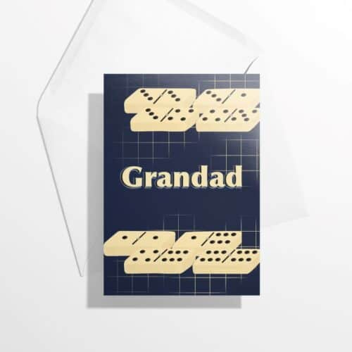 Grandad dominoes card