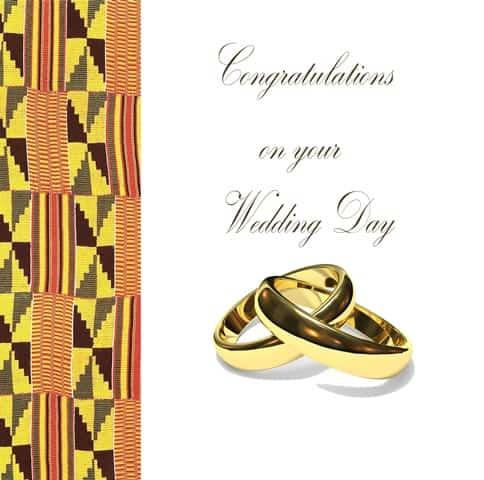 African inspired Wedding Card