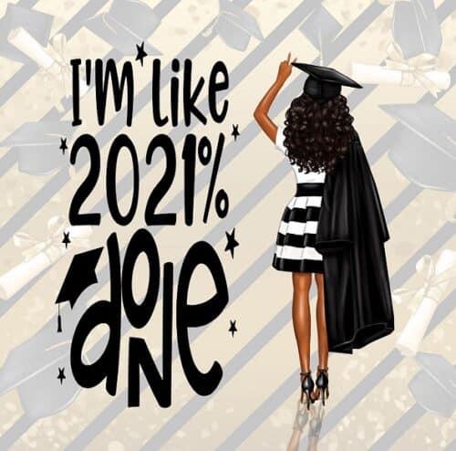 Black Graduation card For Her