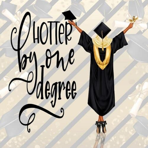 Black Graduation Card