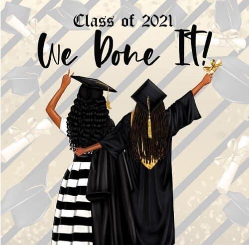 Black Graduation Card 2021