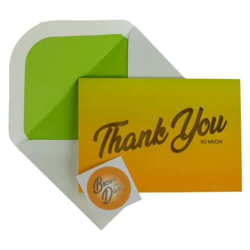 Tropical Citrus Card, envelope and envelope seal sticker