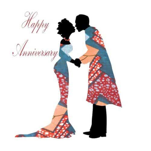 Black Couple Wedding Anniversary card