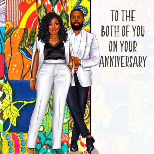 Black couple Anniversary card