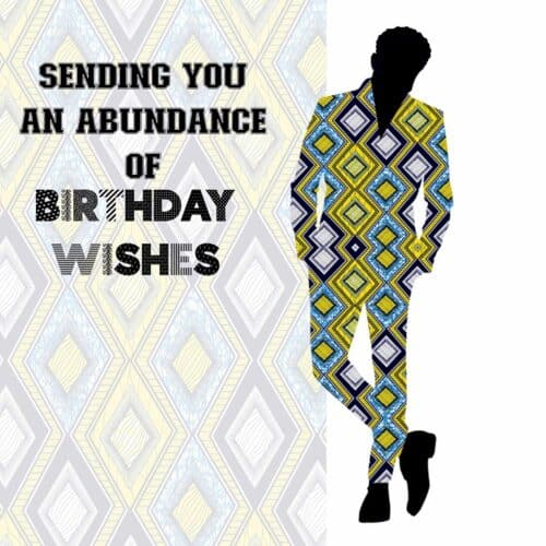 Birthday card for young Black man